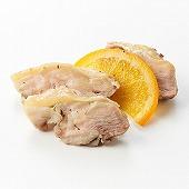 鶏肉のコンフィチュールトリュフ風オレンジ添え