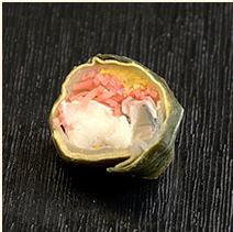 〆鯖の広島菜巻