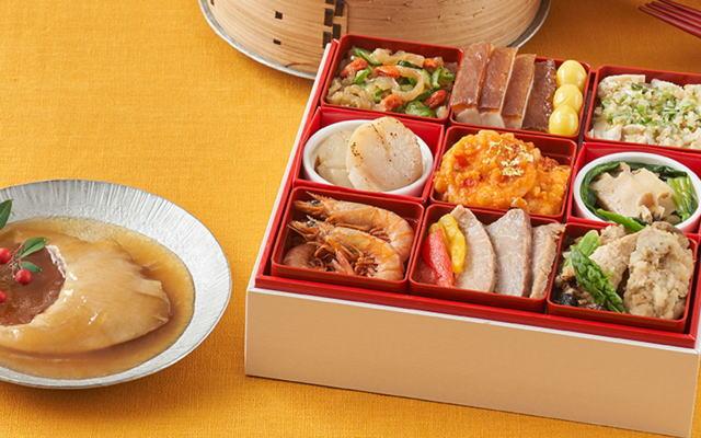 フカヒレの姿煮や帆立貝のソテーなど、本格中華がつまったオードブル。自宅で高級中華料理店の味をどうぞ。